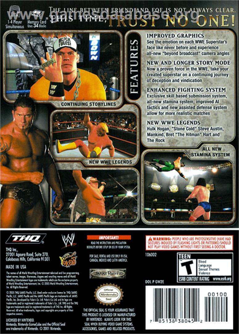 WWE Day of Reckoning 2 - Nintendo GameCube - Artwork - Box Back
