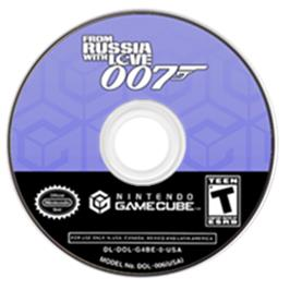 Artwork on the CD for 007: From Russia with Love on the Nintendo GameCube.