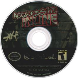 Artwork on the CD for Aggressive Inline on the Nintendo GameCube.