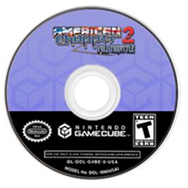Artwork on the CD for American Chopper 2: Full Throttle on the Nintendo GameCube.