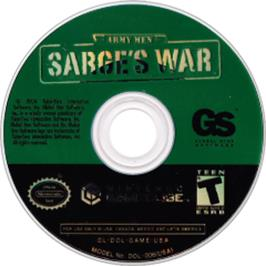 Artwork on the CD for Army Men: Sarge's War on the Nintendo GameCube.