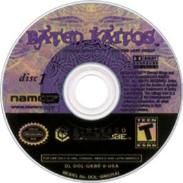 Artwork on the CD for Baten Kaitos: Eternal Wings and the Lost Ocean on the Nintendo GameCube.