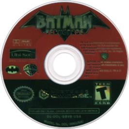 Artwork on the CD for Batman: Vengeance on the Nintendo GameCube.