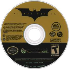 Artwork on the CD for Batman Begins on the Nintendo GameCube.