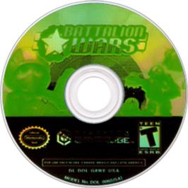 Artwork on the CD for Battalion Wars on the Nintendo GameCube.