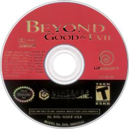 Artwork on the CD for Beyond Good & Evil on the Nintendo GameCube.