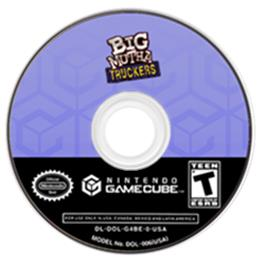 Artwork on the CD for Big Mutha Truckers on the Nintendo GameCube.