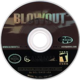 Artwork on the CD for Blowout on the Nintendo GameCube.