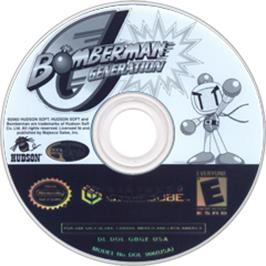 Artwork on the CD for Bomberman Generation on the Nintendo GameCube.