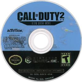 Artwork on the CD for Call of Duty 2: Big Red One on the Nintendo GameCube.