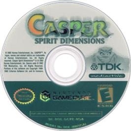 Artwork on the CD for Casper: Spirit Dimensions on the Nintendo GameCube.