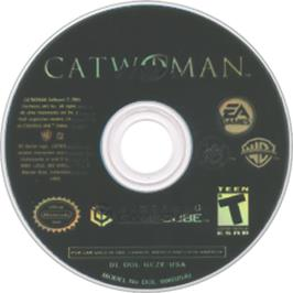 Artwork on the CD for Catwoman on the Nintendo GameCube.