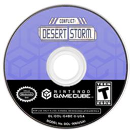 Artwork on the CD for Conflict: Desert Storm on the Nintendo GameCube.