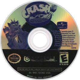 Artwork on the CD for Crash Nitro Kart on the Nintendo GameCube.