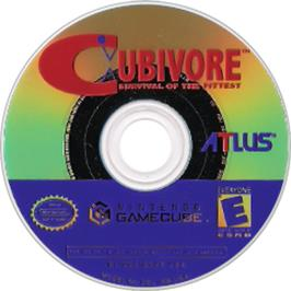 Artwork on the CD for Cubivore on the Nintendo GameCube.