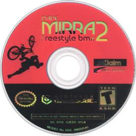 Artwork on the CD for Dave Mirra Freestyle BMX 2 on the Nintendo GameCube.
