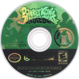 Artwork on the CD for Donkey Kong: Jungle Beat on the Nintendo GameCube.