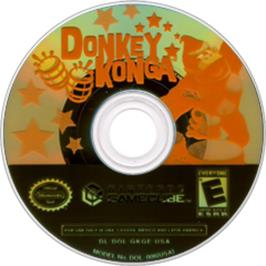 Artwork on the CD for Donkey Konga on the Nintendo GameCube.