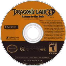 Artwork on the CD for Dragon's Lair 3D: Return to the Lair on the Nintendo GameCube.