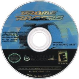 Artwork on the CD for Drome Racers on the Nintendo GameCube.