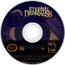 Artwork on the CD for Eternal Darkness: Sanity's Requiem on the Nintendo GameCube.