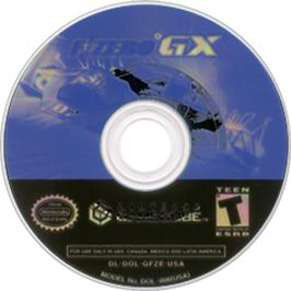 Artwork on the CD for F-Zero GX on the Nintendo GameCube.