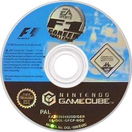 Artwork on the CD for F1 Career Challenge on the Nintendo GameCube.