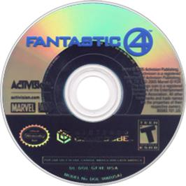 Artwork on the CD for Fantastic 4 on the Nintendo GameCube.