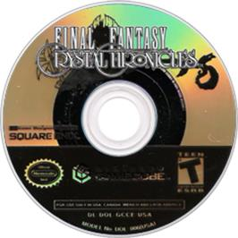 Artwork on the CD for Final Fantasy: Crystal Chronicles on the Nintendo GameCube.