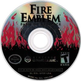 Artwork on the CD for Fire Emblem: Path of Radiance on the Nintendo GameCube.
