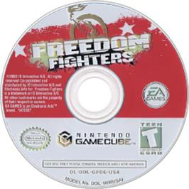 Artwork on the CD for Freedom Fighters on the Nintendo GameCube.