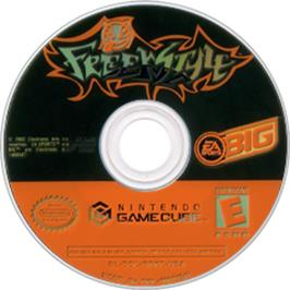 Artwork on the CD for Freekstyle on the Nintendo GameCube.