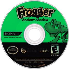 Artwork on the CD for Frogger: Ancient Shadow on the Nintendo GameCube.
