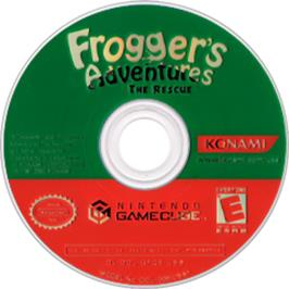Artwork on the CD for Frogger's Adventures: The Rescue on the Nintendo GameCube.