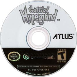Artwork on the CD for Go! Go! Hypergrind on the Nintendo GameCube.