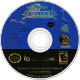 Artwork on the CD for Harry Potter: Quidditch World Cup on the Nintendo GameCube.