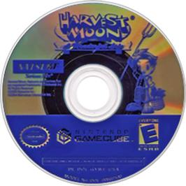 Artwork on the CD for Harvest Moon: A Wonderful Life on the Nintendo GameCube.
