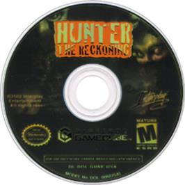 Artwork on the CD for Hunter: The Reckoning on the Nintendo GameCube.