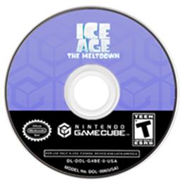 Artwork on the CD for Ice Age 2: The Meltdown on the Nintendo GameCube.