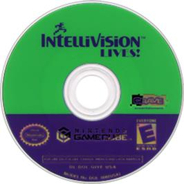 Artwork on the CD for Intellivision Lives on the Nintendo GameCube.