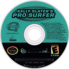 Artwork on the CD for Kelly Slater's Pro Surfer on the Nintendo GameCube.