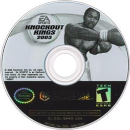Artwork on the CD for Knockout Kings 2003 on the Nintendo GameCube.