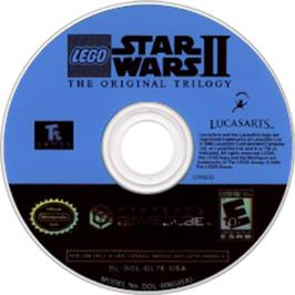 Artwork on the CD for LEGO Star Wars 2: The Original Trilogy on the Nintendo GameCube.