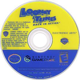 Artwork on the CD for Looney Tunes: Back in Action on the Nintendo GameCube.