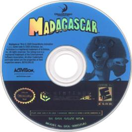 Artwork on the CD for Madagascar on the Nintendo GameCube.