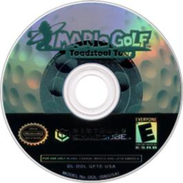 Artwork on the CD for Mario Golf: Toadstool Tour on the Nintendo GameCube.