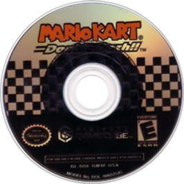 Artwork on the CD for Mario Kart: Double Dash (Special Edition) on the Nintendo GameCube.