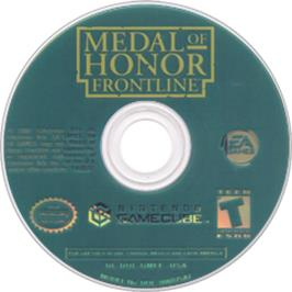 Artwork on the CD for Medal of Honor: Frontline on the Nintendo GameCube.