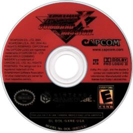 Artwork on the CD for Mega Man X: Command Mission on the Nintendo GameCube.