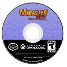Artwork on the CD for Monster 4x4: Masters of Metal on the Nintendo GameCube.